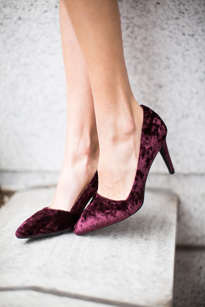 Burgundy Suede Pumps Hello Fashion Blog Shoes