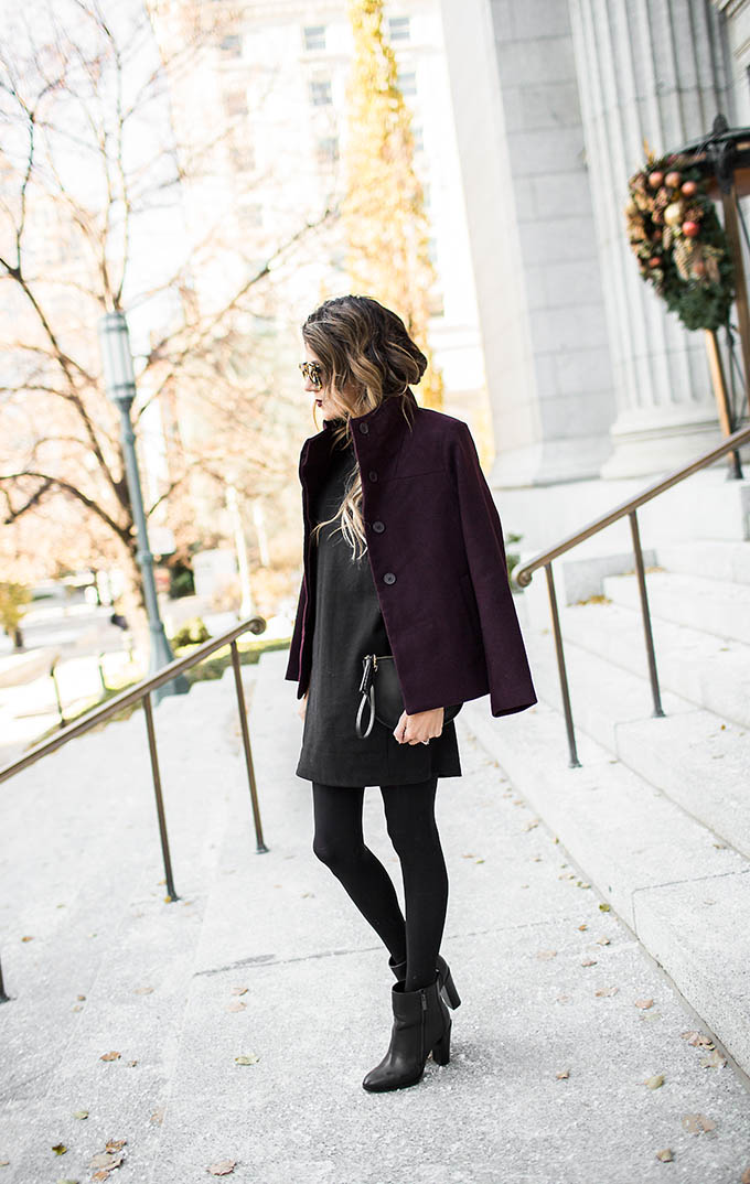 Burgundy and Black Outfit Christine Andrew