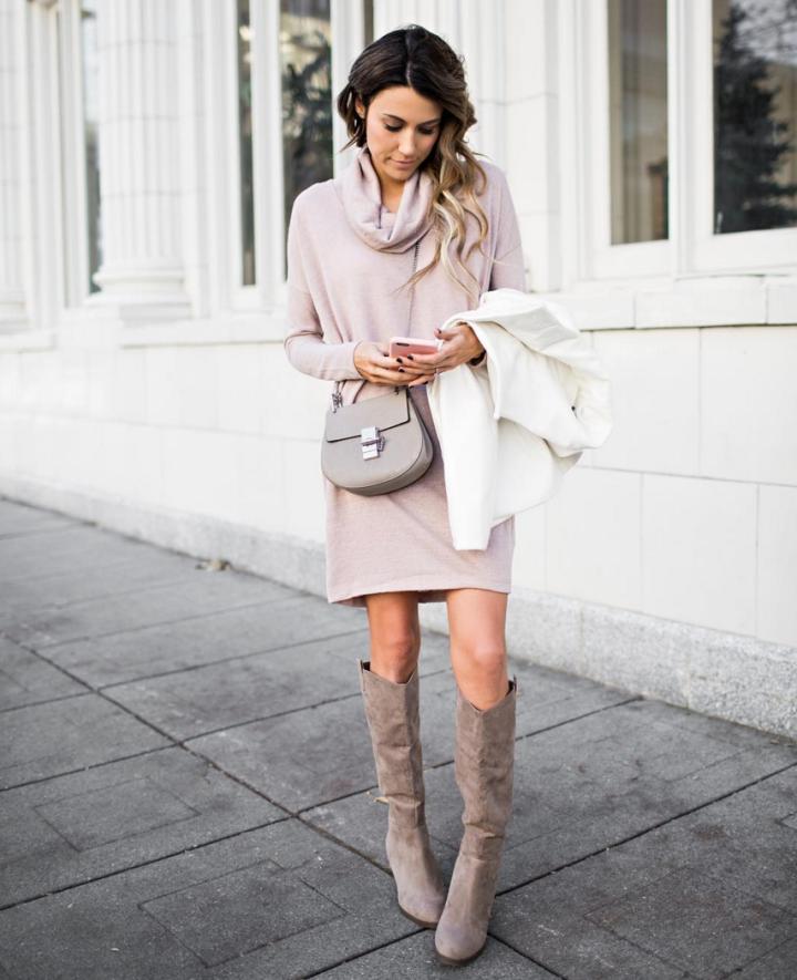 Pink and Grey Winter Pastels Hello Fashion Blog