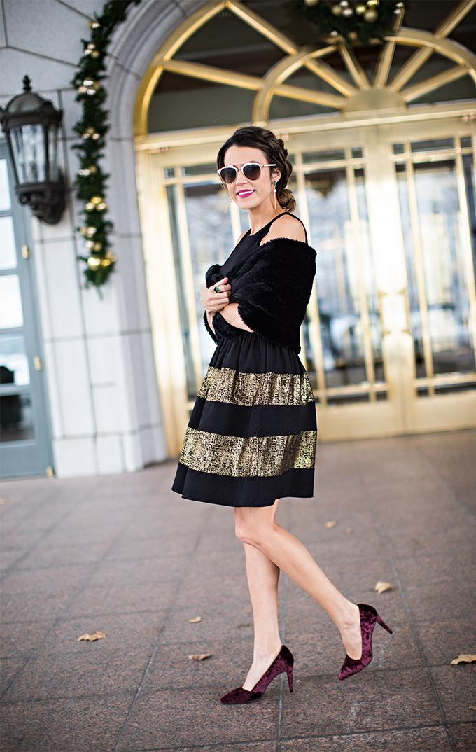 Gold and Black Dress Hello Fashion Blog