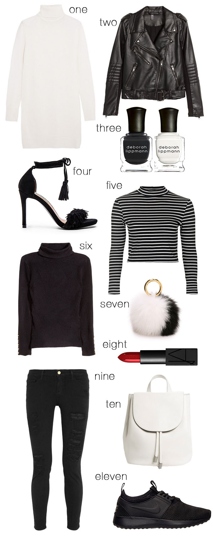 Black and White Staple Pieces Hello Fashion Blog