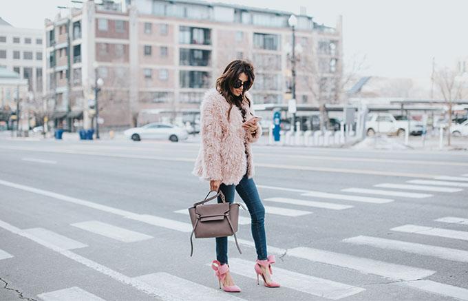 Pink Coat and Heels