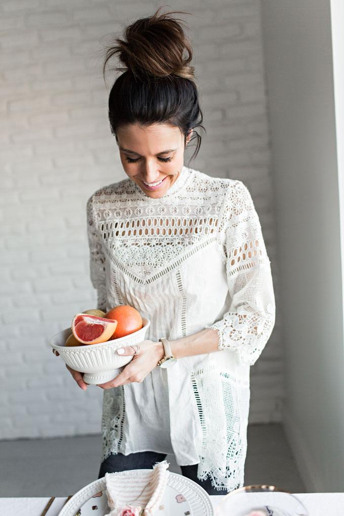 Anthropologie White Crochet Top