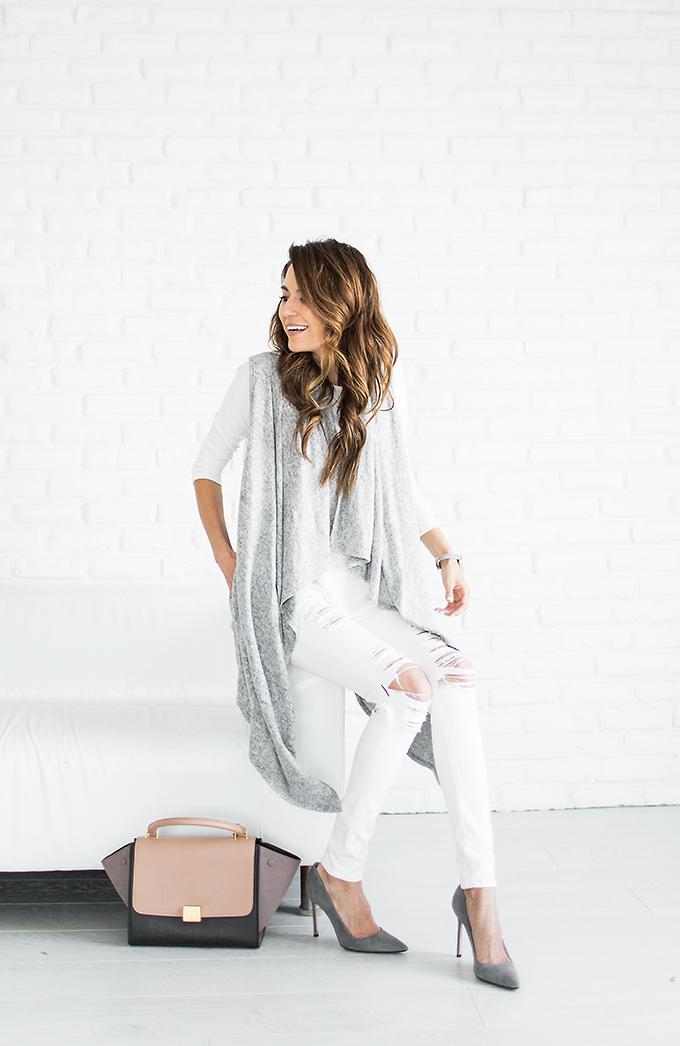 Grey cardigan Hello Fashion Blog