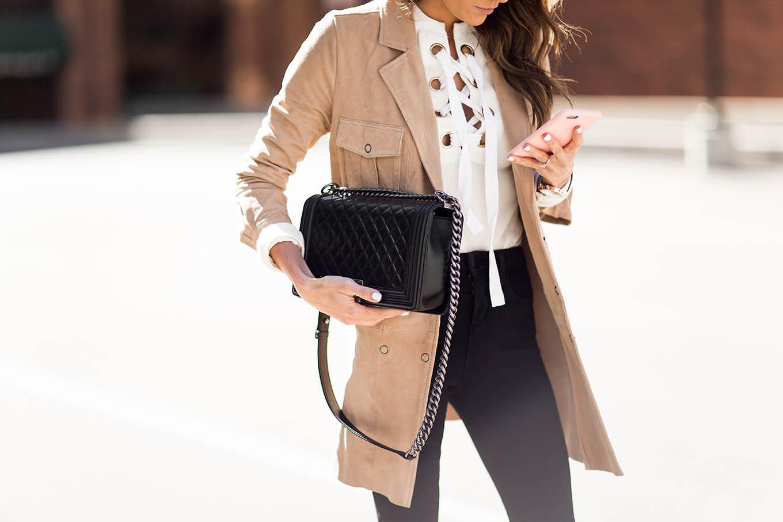 Suede dress Hello Fashion Blog