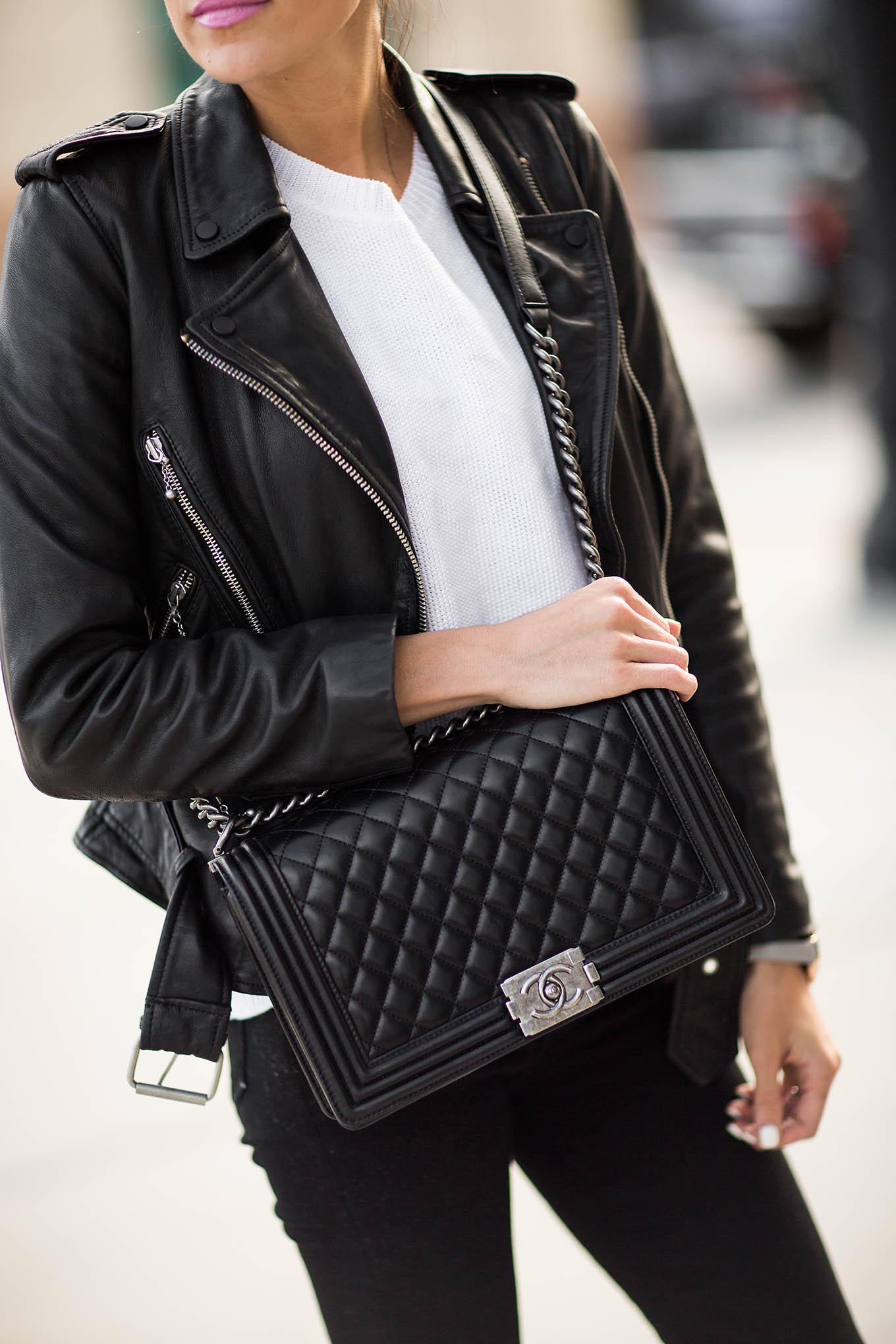 Black leather jacket Hello fashion Blog