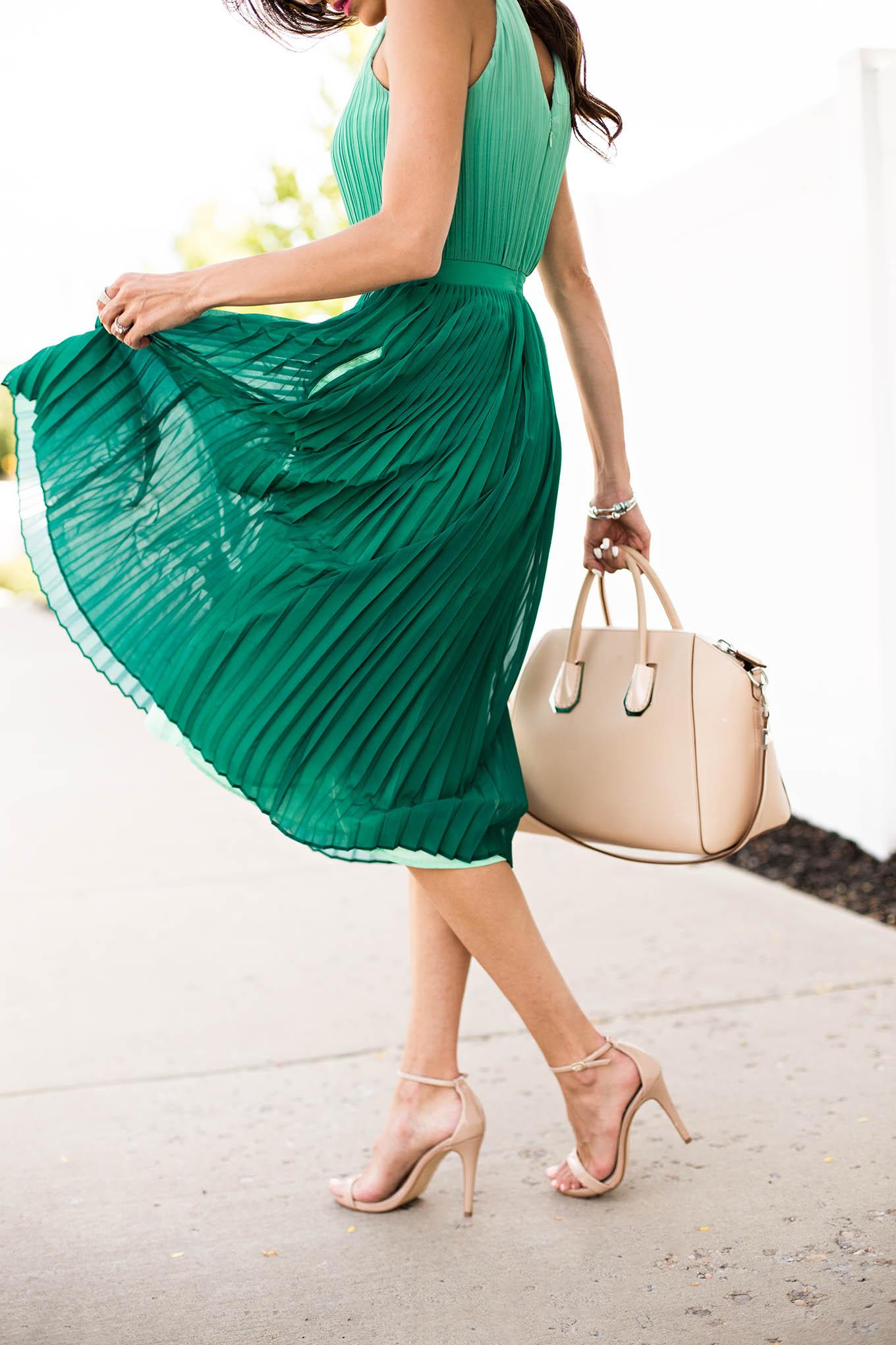 pleated dress hello fashion blog