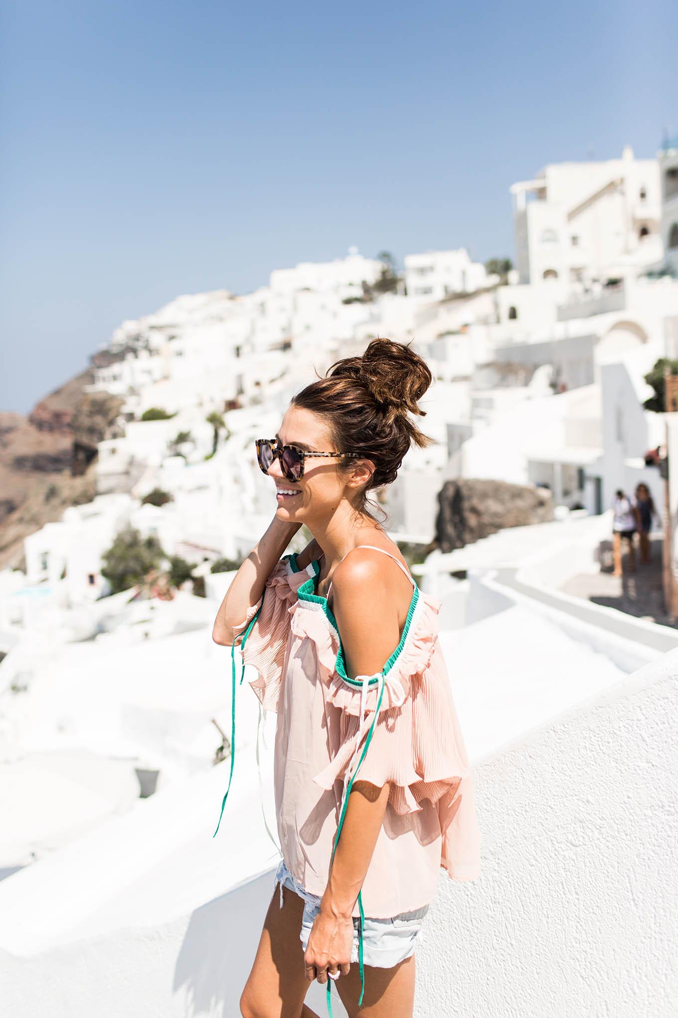 hello fashion blog santorini greece