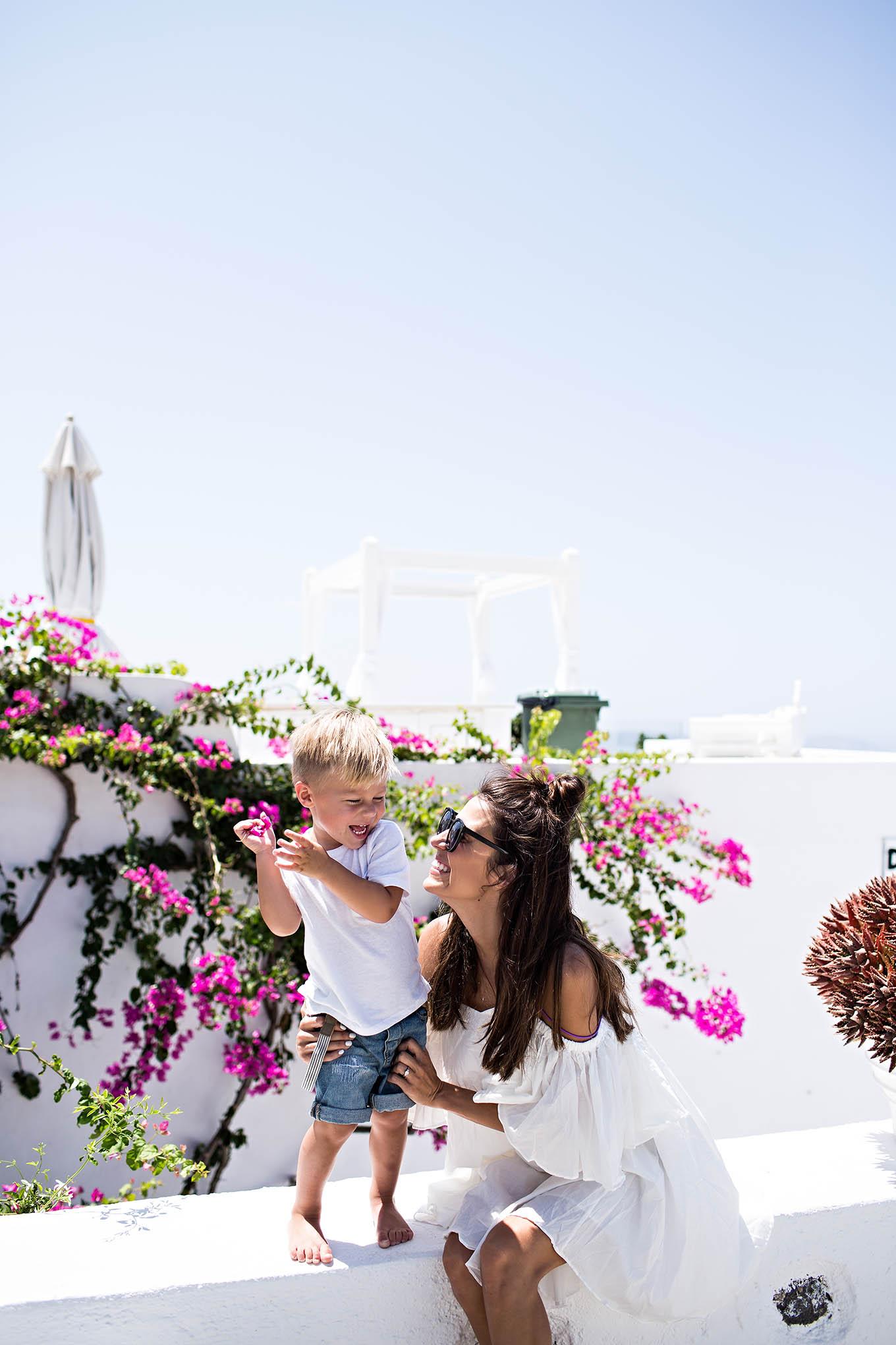 Family Trip To Santorini