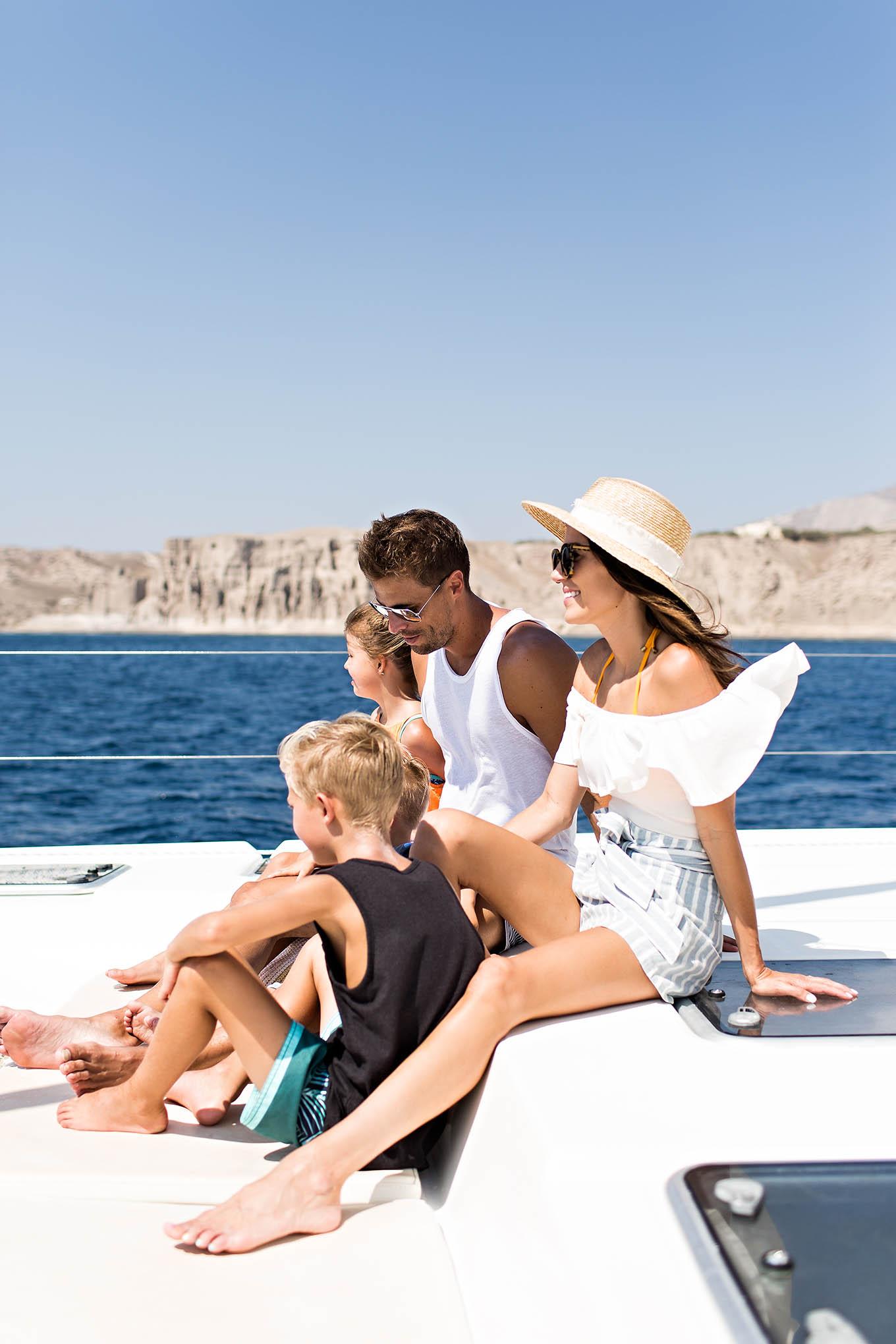 Family Boat Tour In Santorini