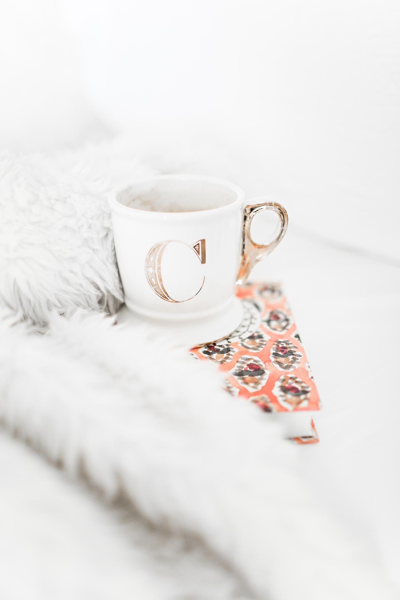cute monogram mug