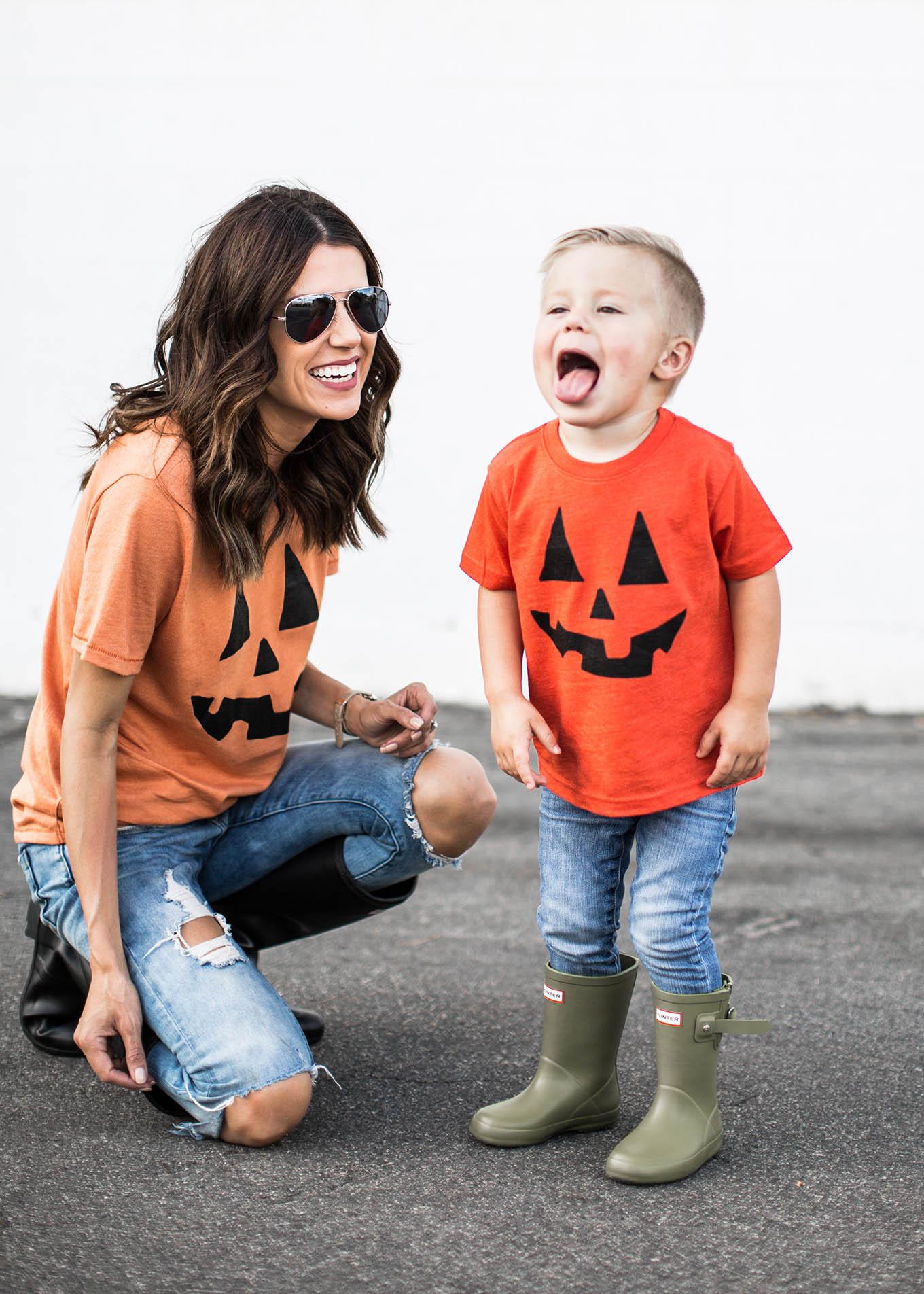 family pumpkin tees