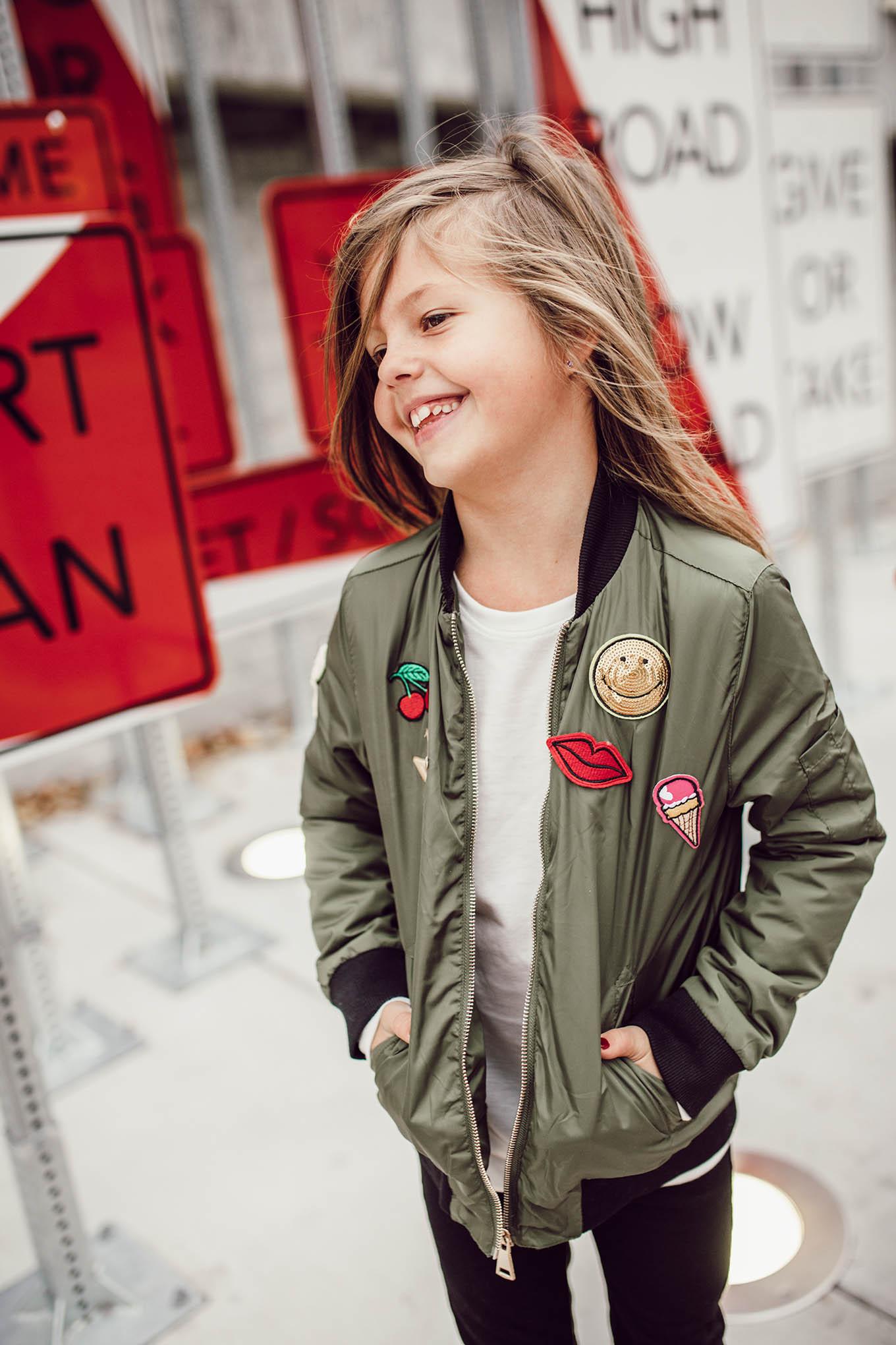 girl's bomber jacket