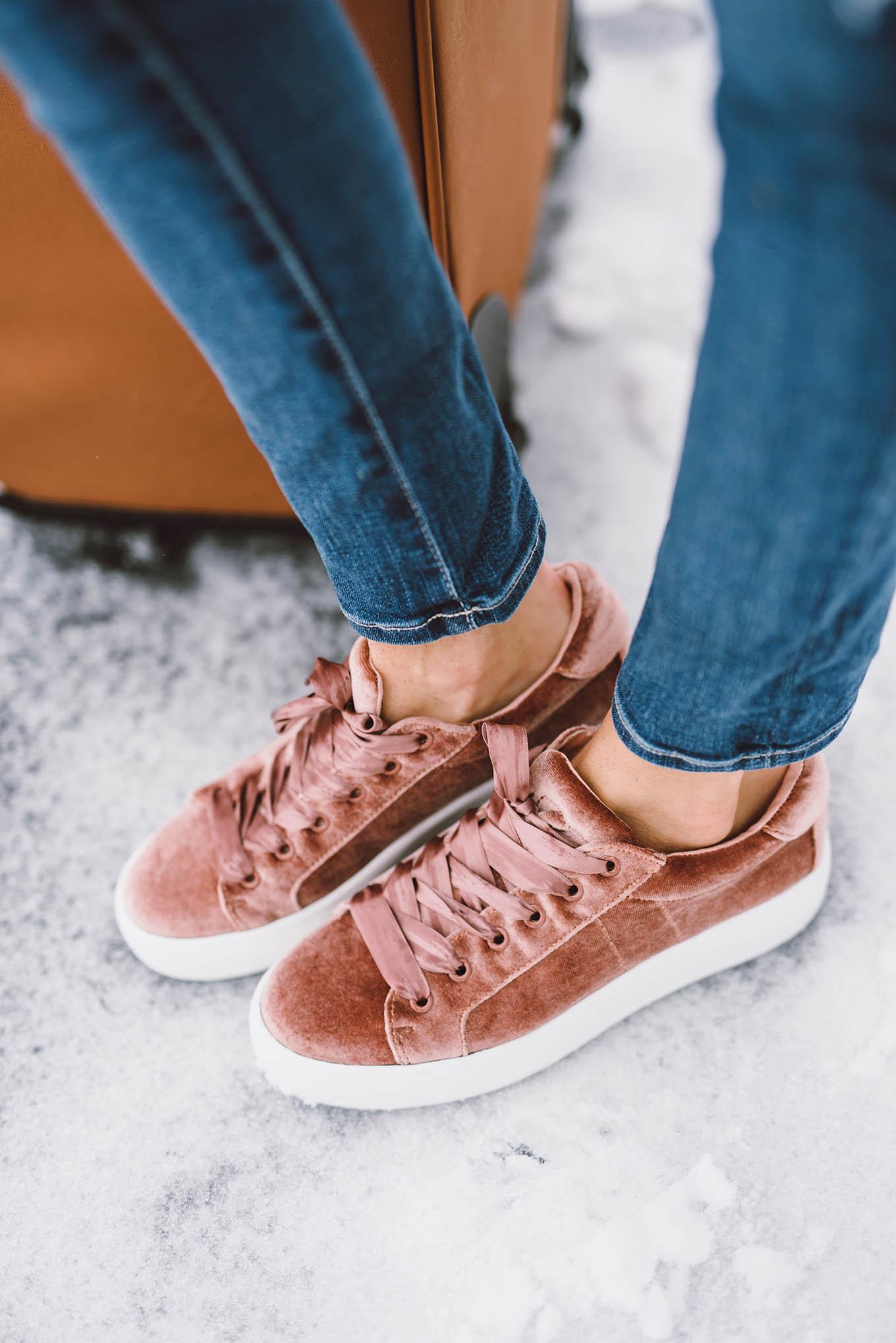 steve madden velvet sneakers