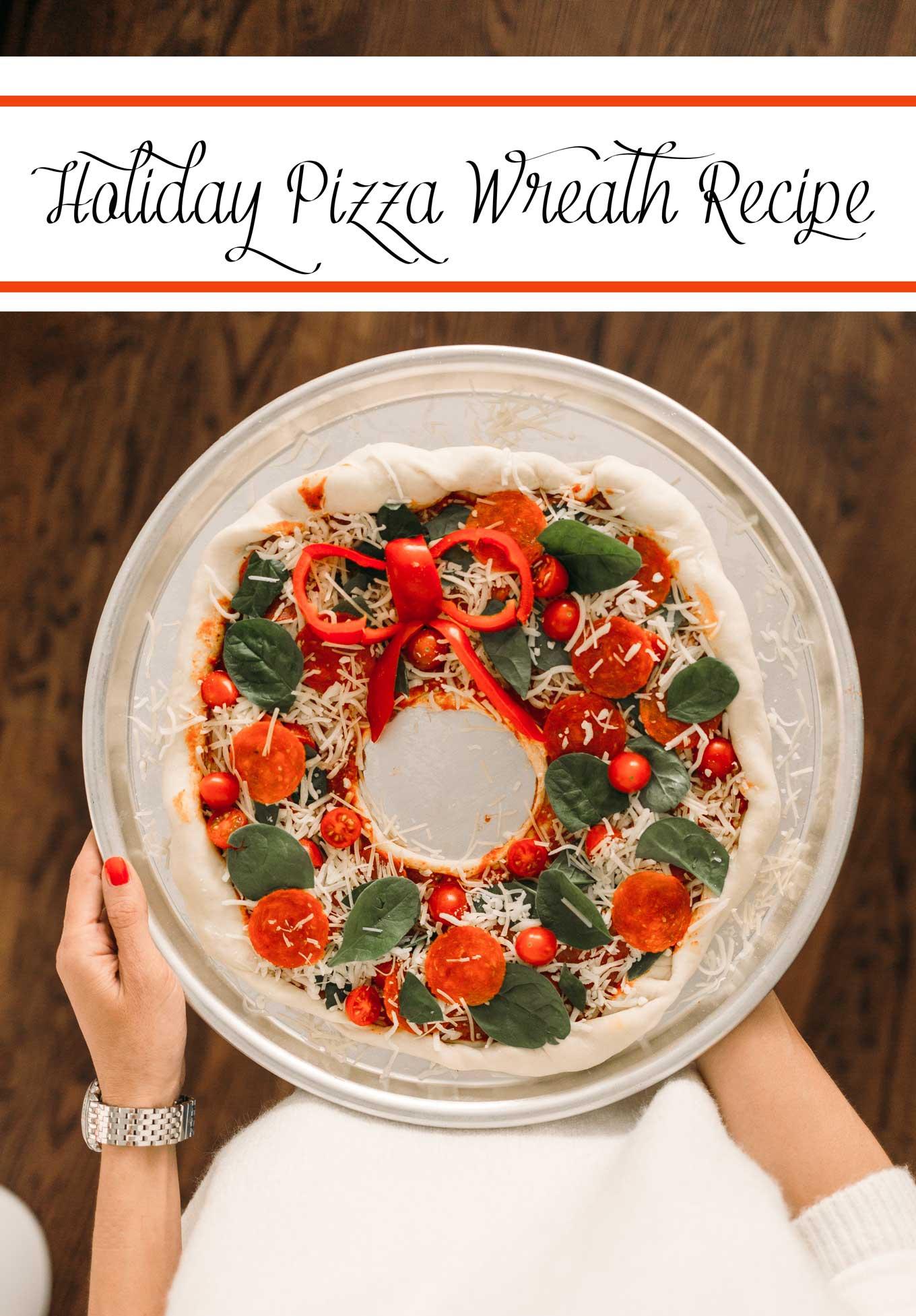 Holiday Pizza Wreath Recipe