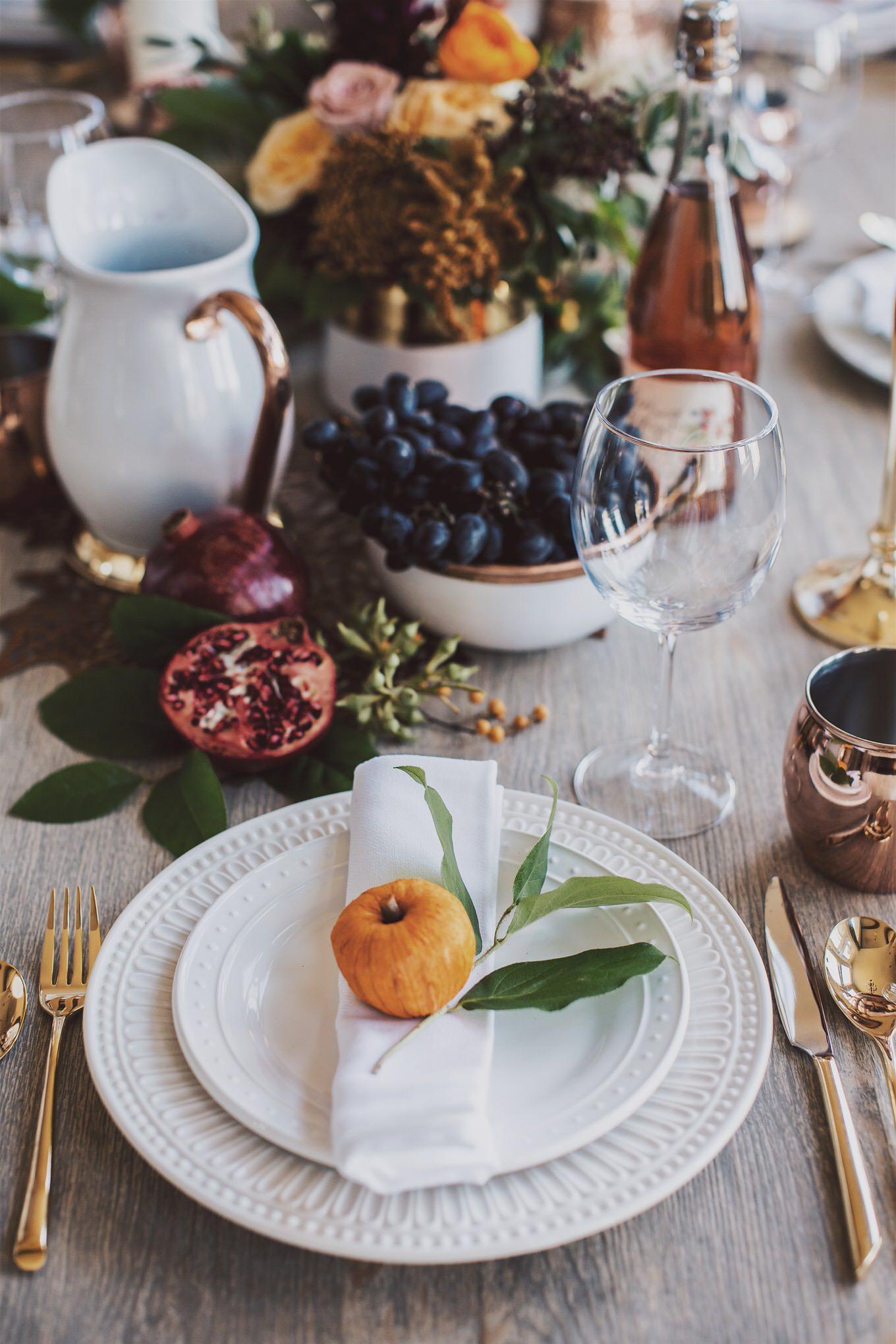 thanskgiving tabletop