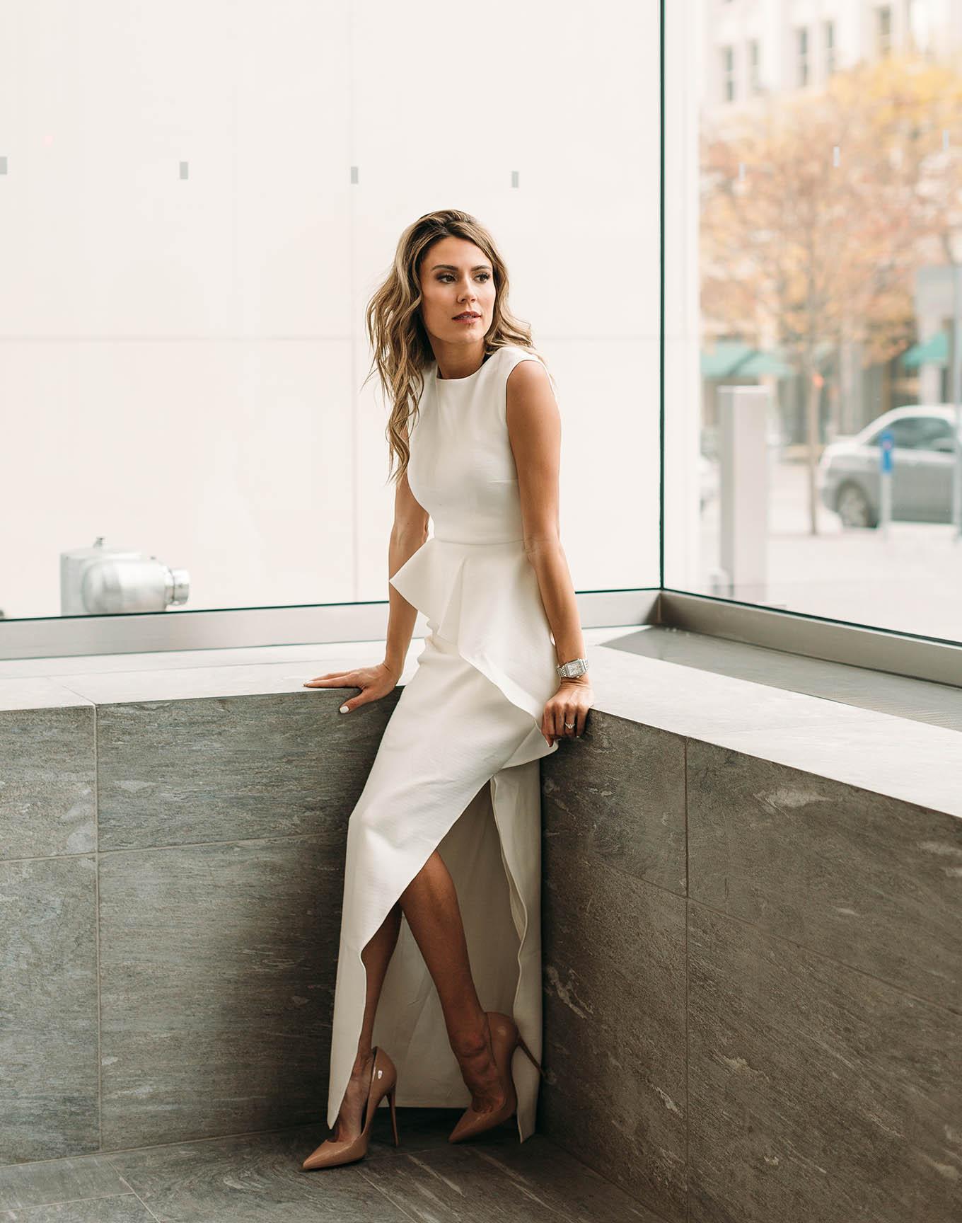 white holiday dress