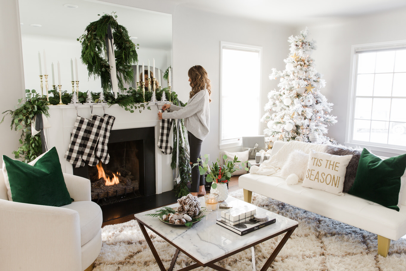 blogger christmas decor