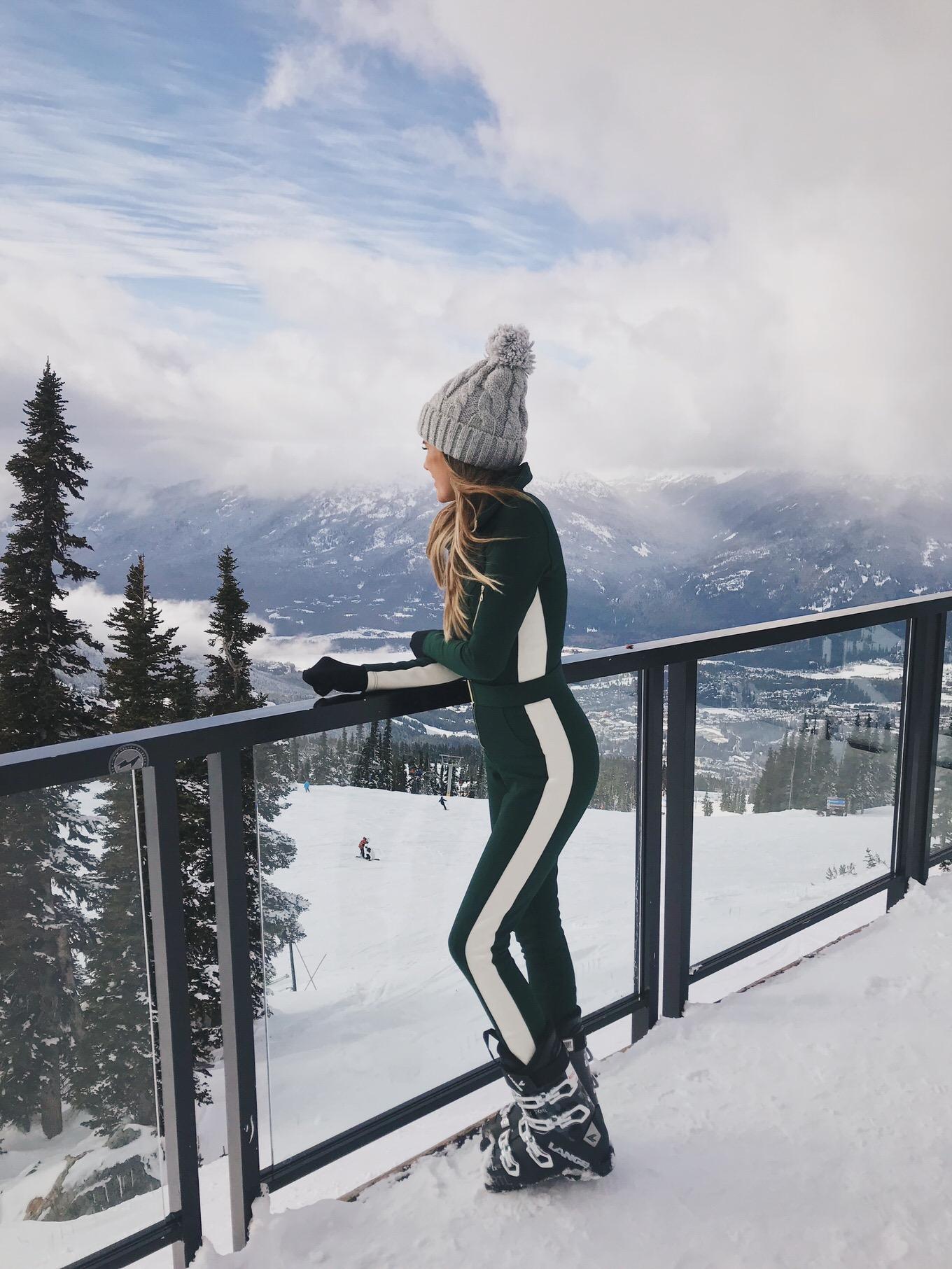 christine andrew skiing