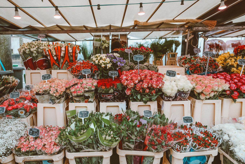 Christine and Flower Market