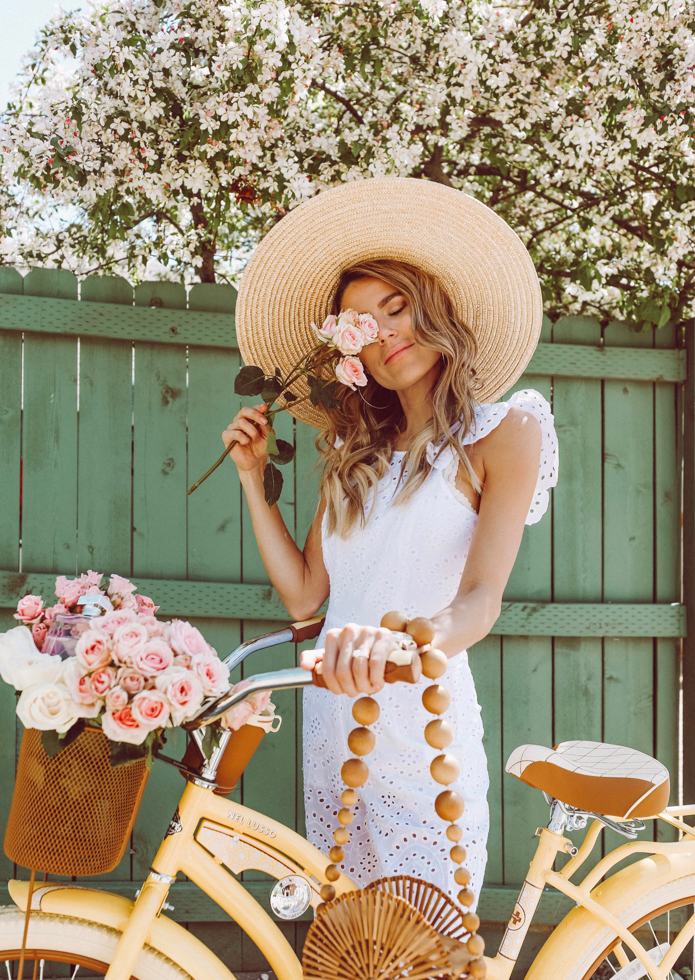 Spring Bike Ride with flowers