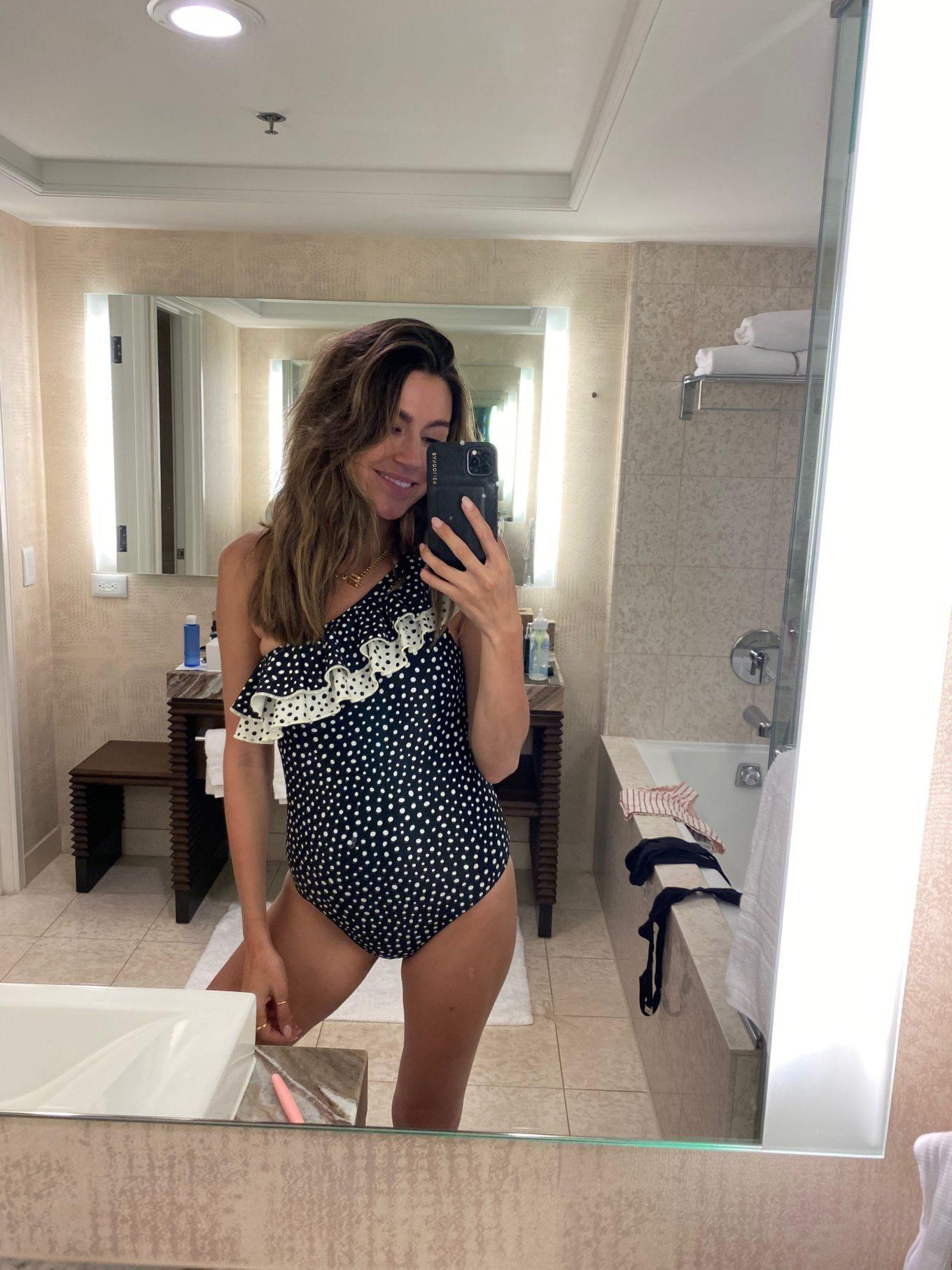 flattering one piece swimsuit