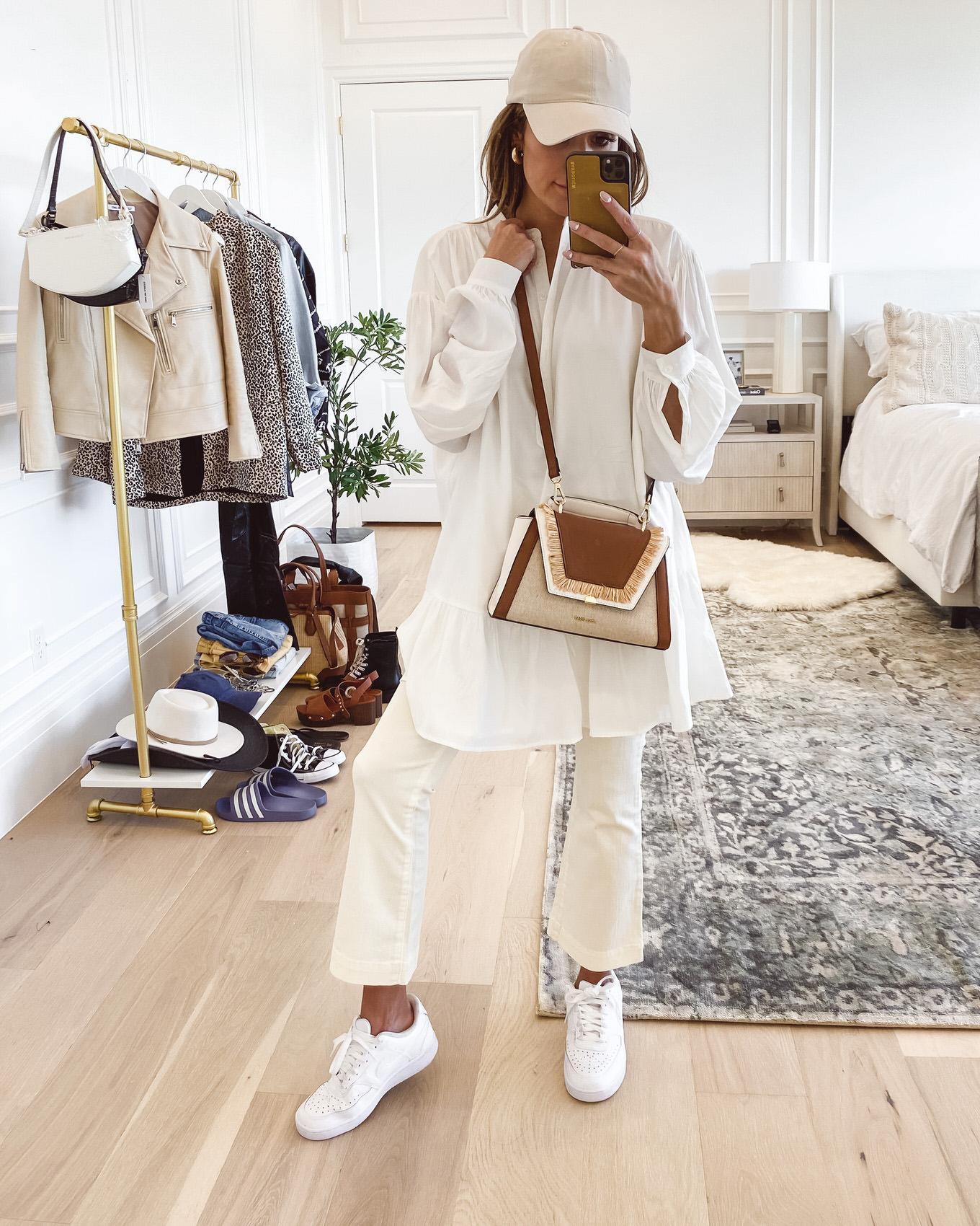 white dress and pants for spring