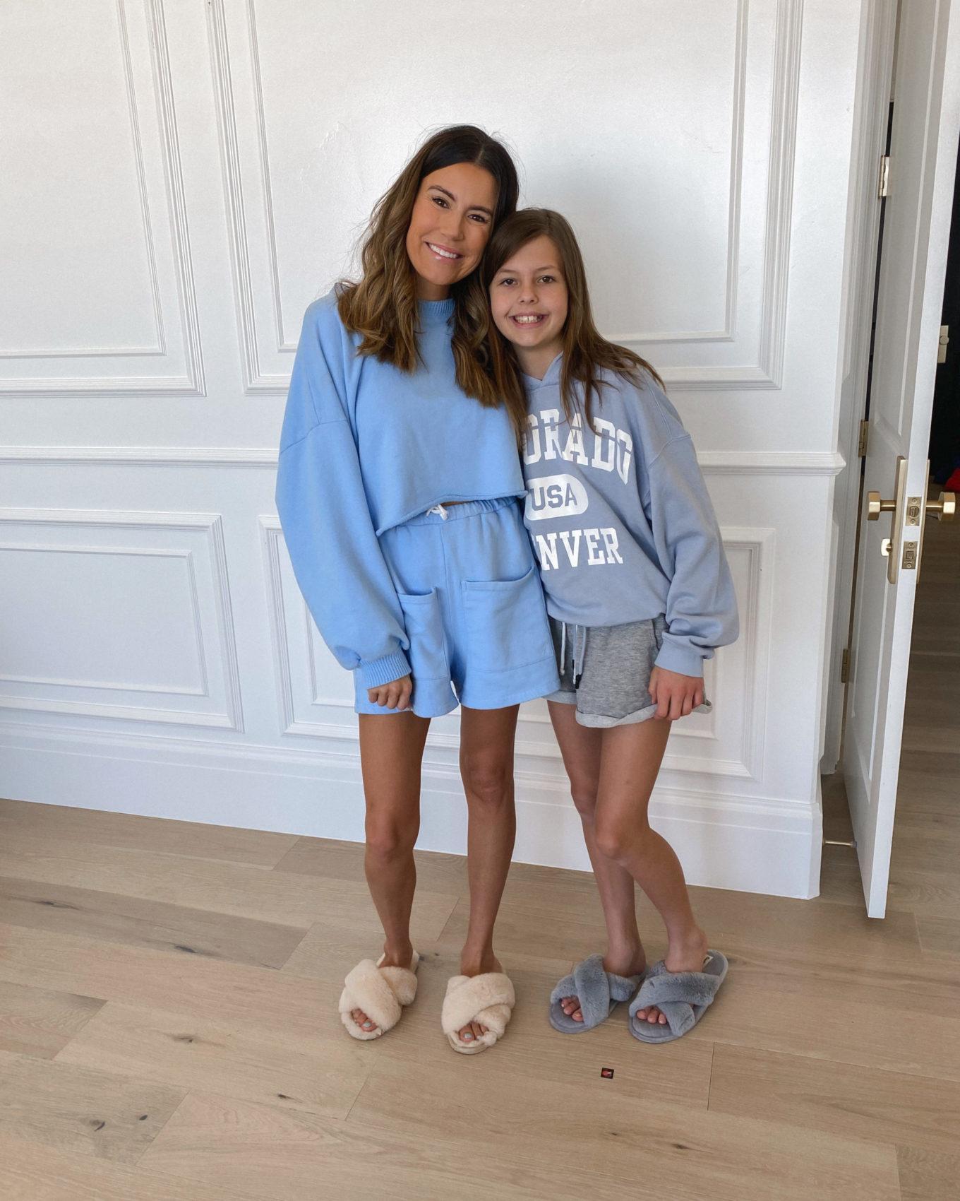 mom and daughter matching pajama sets