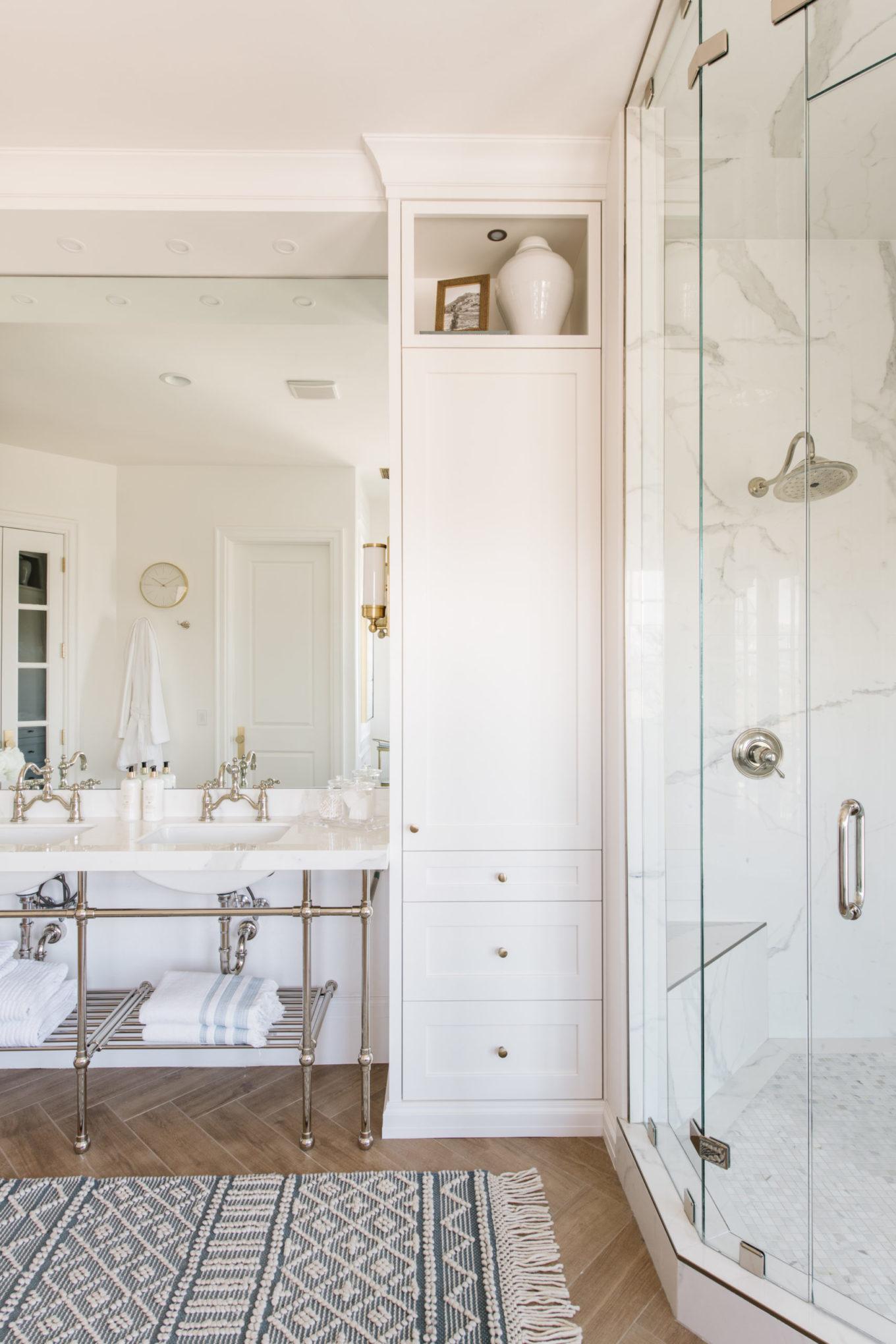 hello fashion blog master bathroom shower