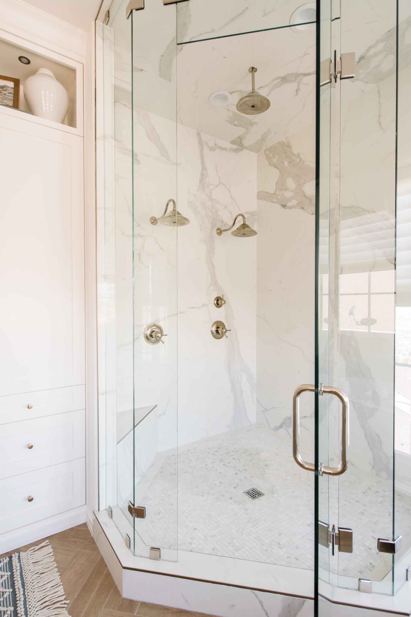 luxury master bath shower