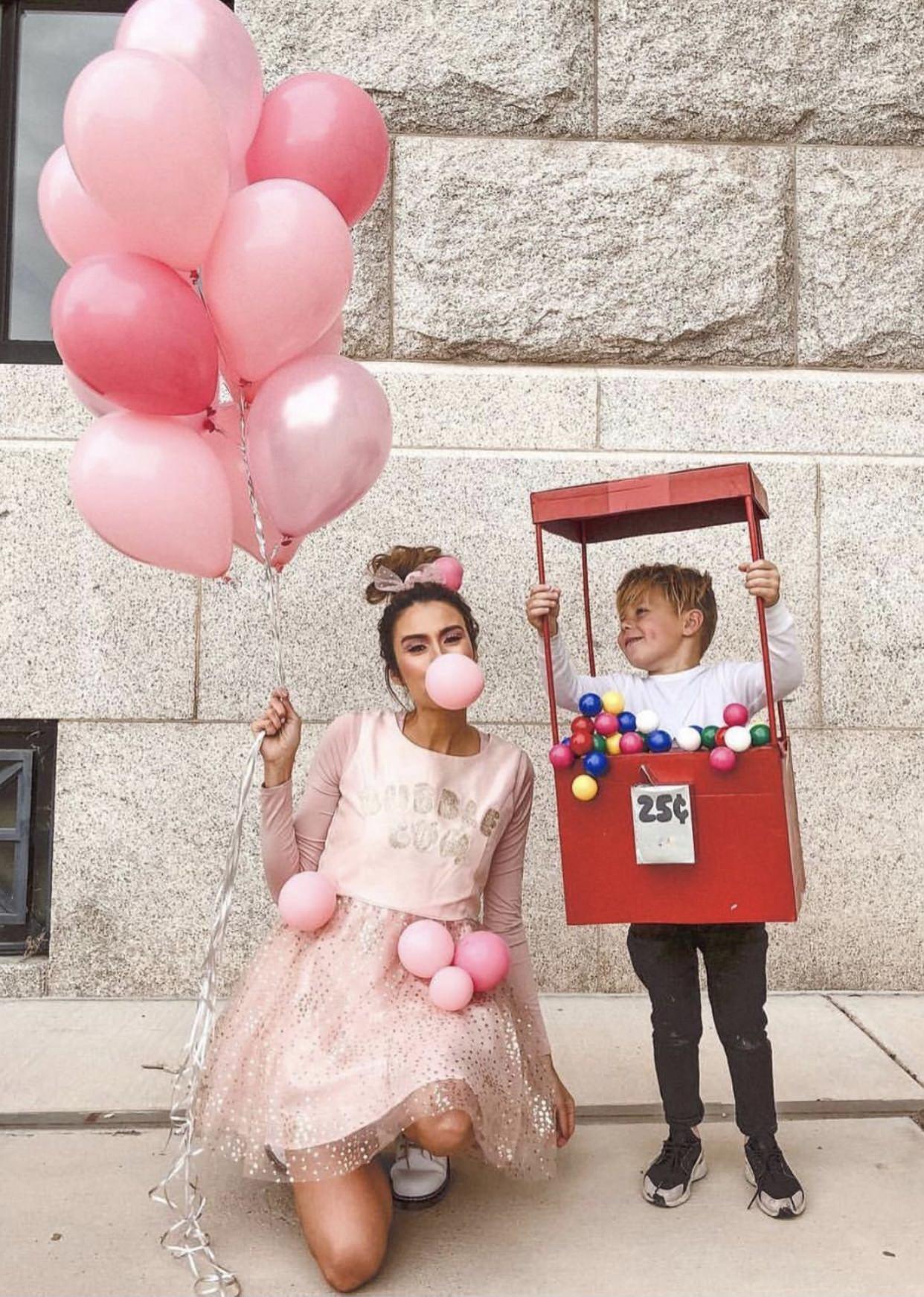 diy bubble gum costume
