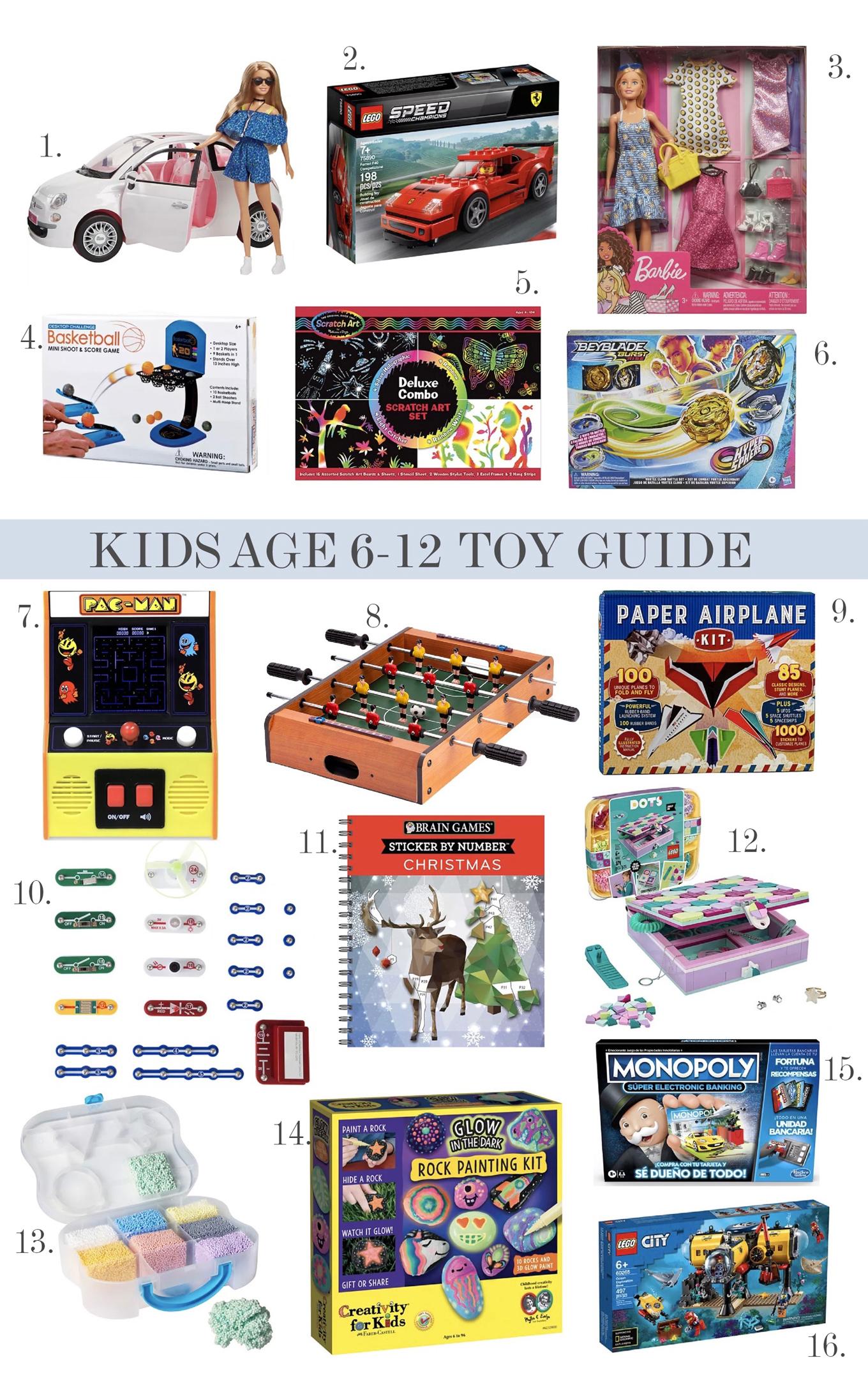 kids 6-12 presents