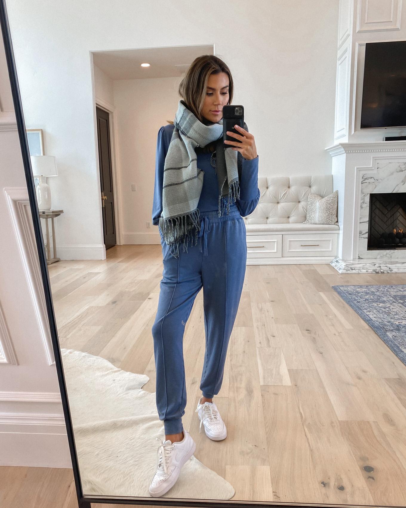 blue matching set