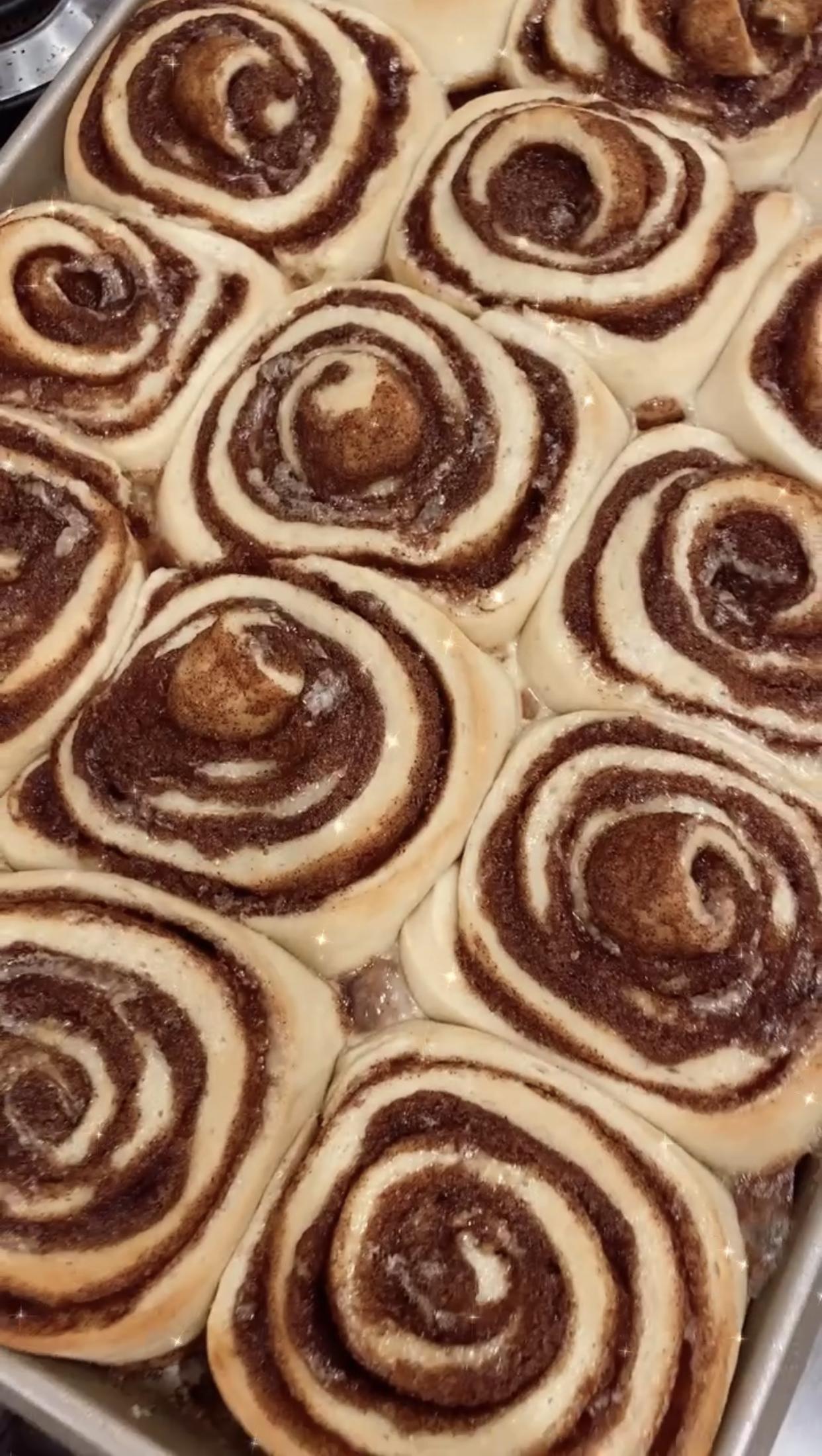 Christine Andrew cinnamon rolls