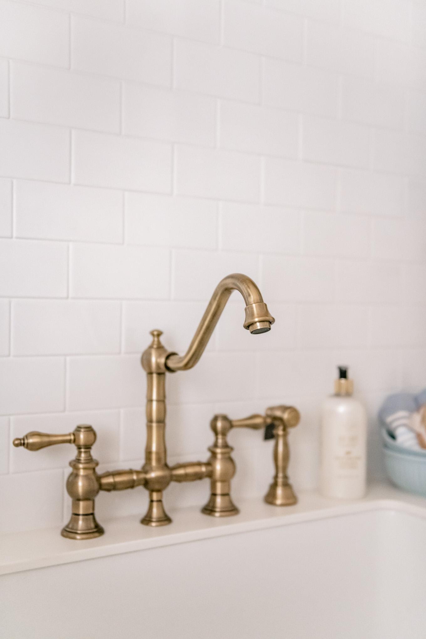 gold sink fixture
