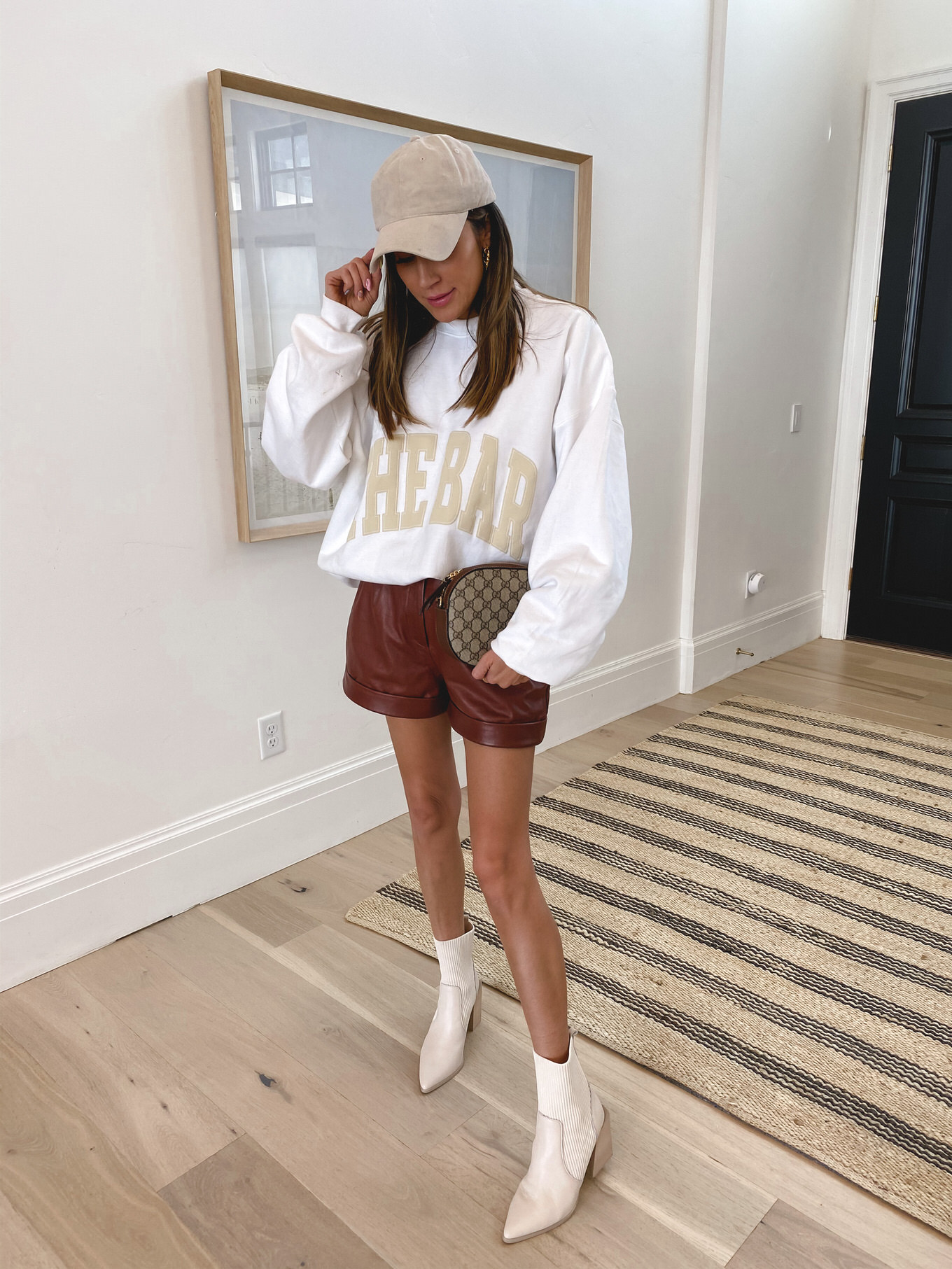 how to style leather shorts for spring