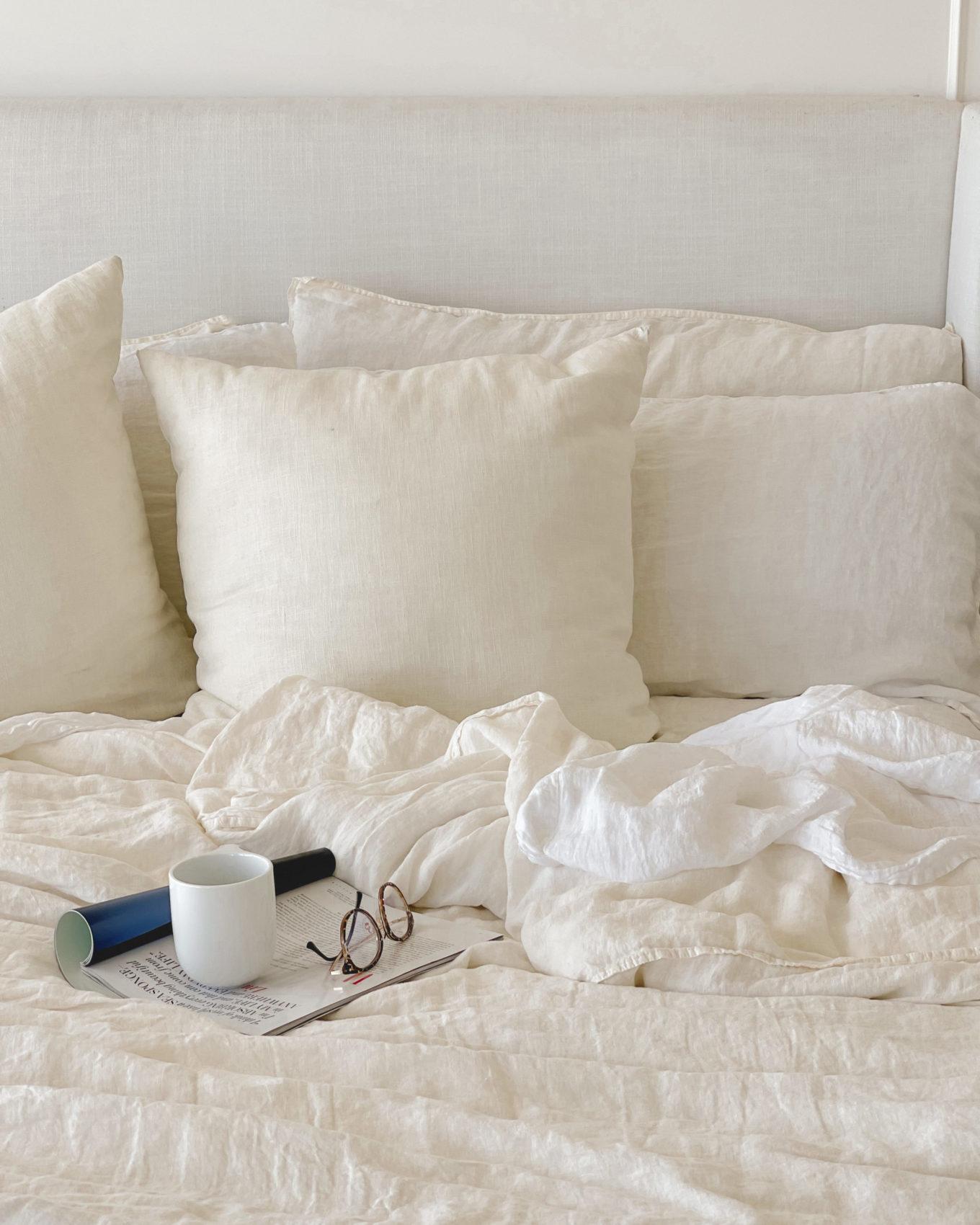 linen sheets, linen spray, spa, bedroom, bed
