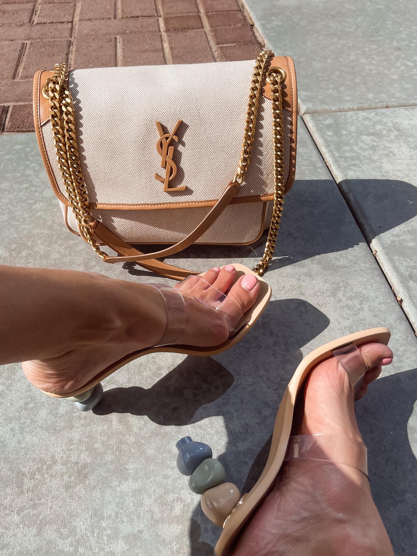 nude statement sandals
