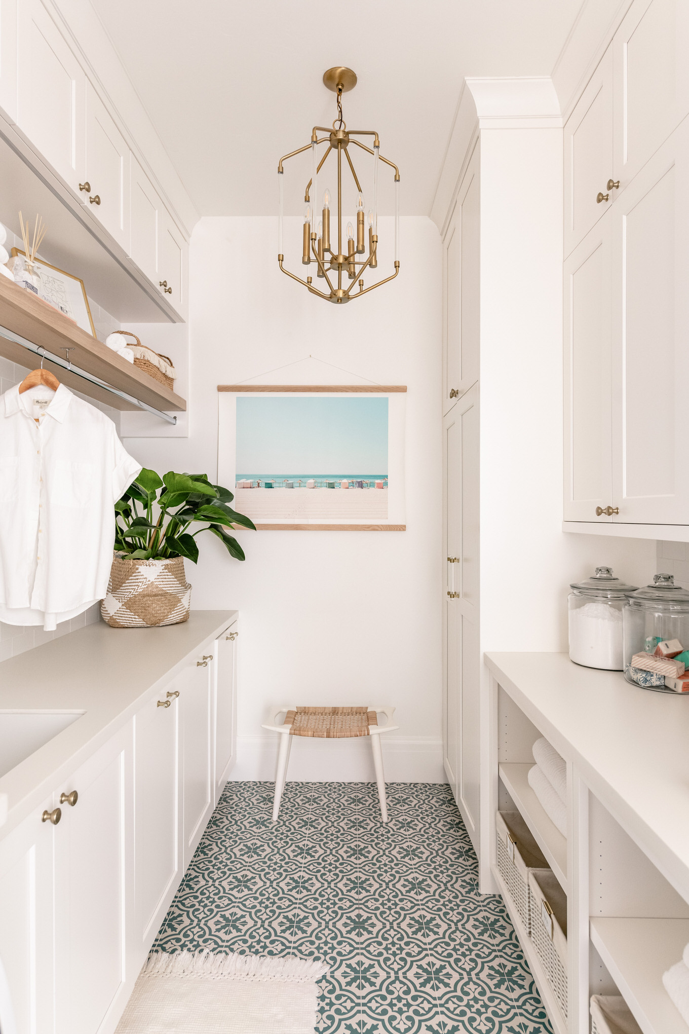 christine andrew laundry room reveal